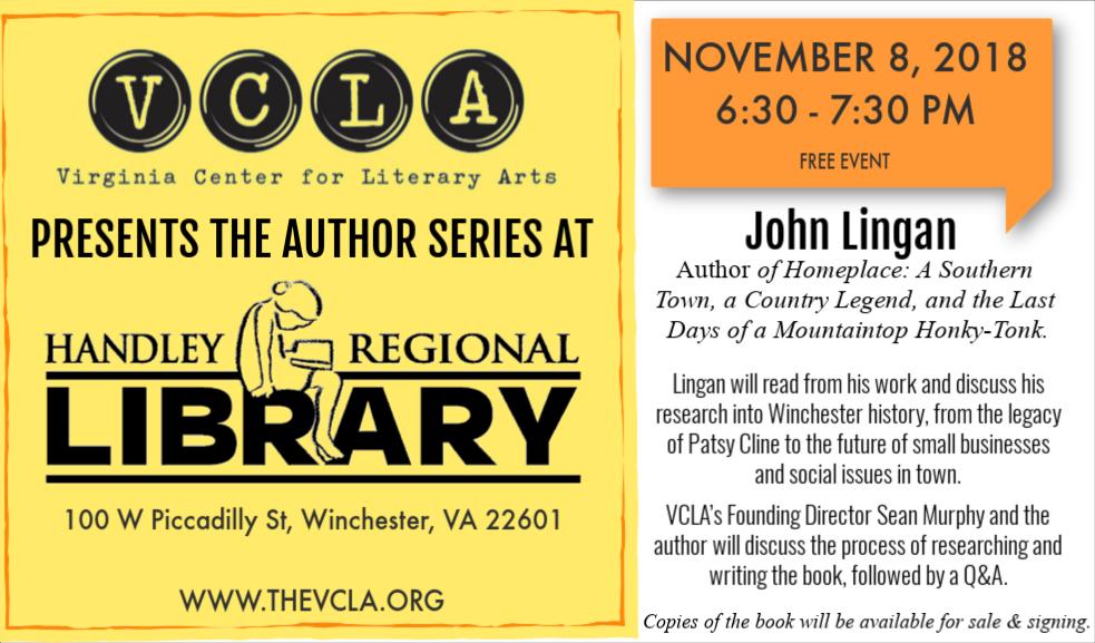 Author Series with John Lingan