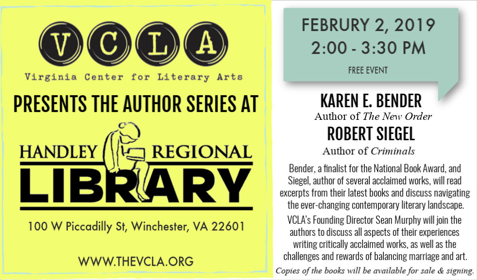 Author Series continues with Karen E. Bender and Robert Siegel