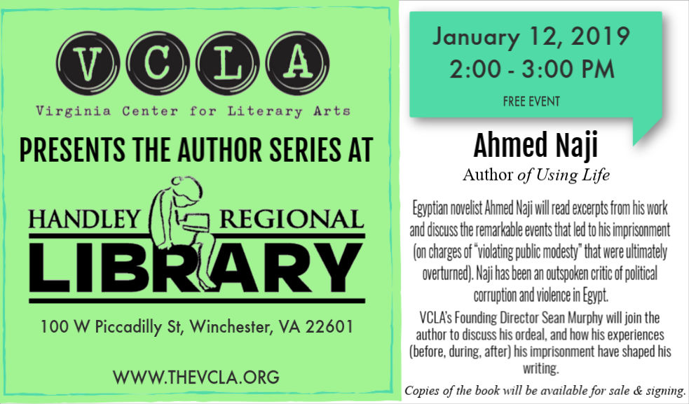 Author Series at Handley Regional Library with Ahmed Naji