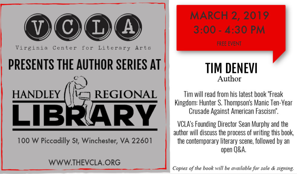 Author Series Continues with Tim Denevi