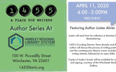 April 11 Author Series with Justen Ahren