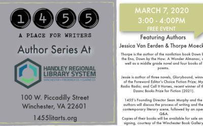March 7 Author Series with Thorpe Moeckel and Jessie van Eerden