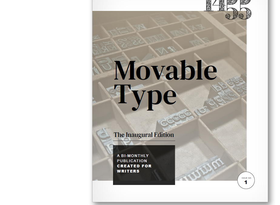 Introducing 1455's MOVABLE TYPE: A Publication for Writers